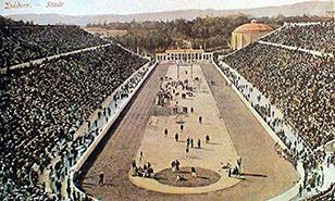 O Σπύρος Λούης στο Παναθηναϊκό στάδιο
